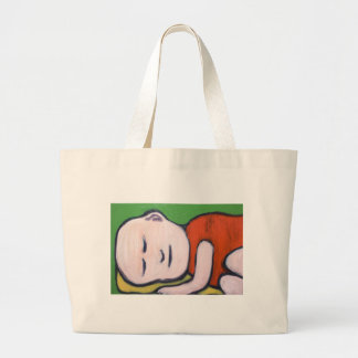 Sleeping Baby Buddha ( Buddhism pop art ) Canvas Bag