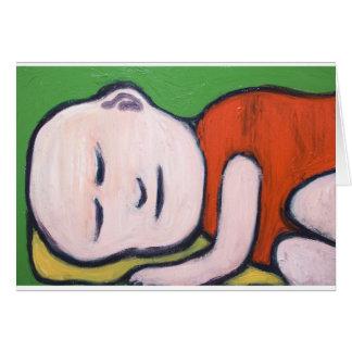 Sleeping Baby Buddha ( Buddhism pop art ) Greeting Card