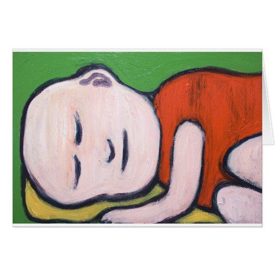 Sleeping Baby Buddha ( Buddhism pop art ) Card