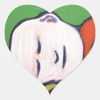 Sleeping Baby Buddha ( Buddhism pop art ) Heart Sticker