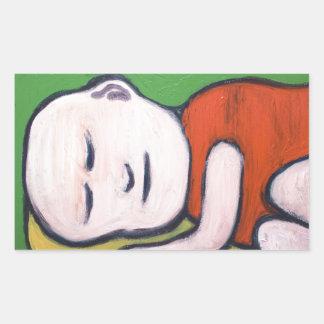 Sleeping Baby Buddha ( Buddhism pop art ) Rectangular Sticker
