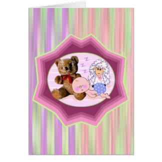 Sleeping Baby Card
