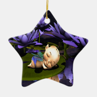 Sleeping Baby Fairy Ceramic Ornament