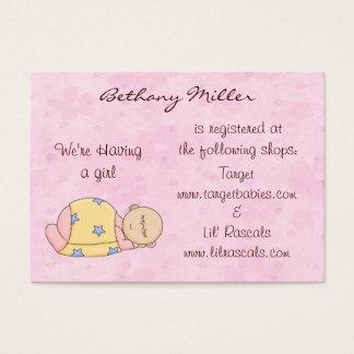 Sleeping Baby Gift Registry Card