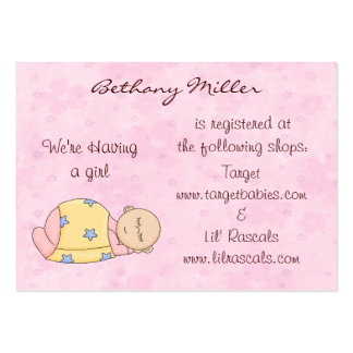 Sleeping Baby Gift Registry Card Large Business Card