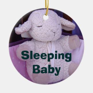 Sleeping Baby hanging door ornaments Shhh lamb toy