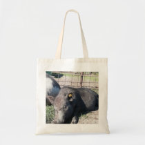 Sleeping baby mini pig. tote bag