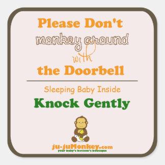 Sleeping Baby No Doorbell Sticker