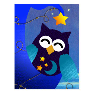 Sleeping Baby Owl Postcard