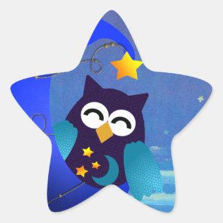 Sleeping Baby Owl Star Sticker