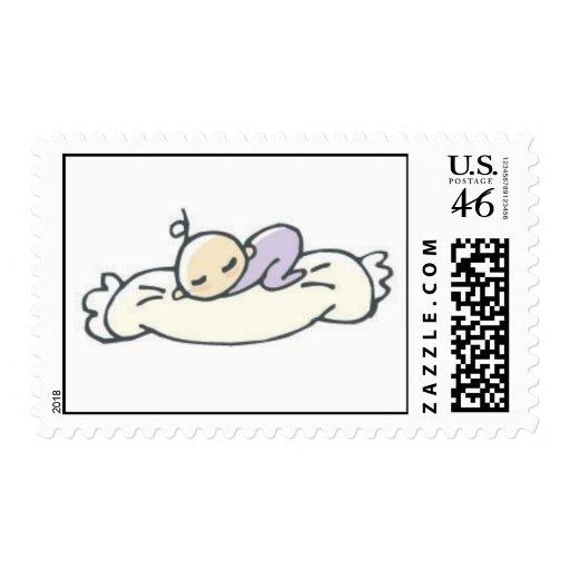 Sleeping Baby Postage Stamp