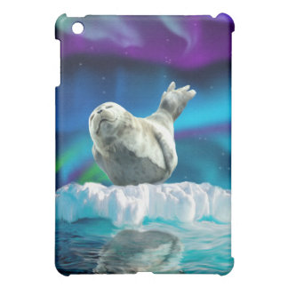 Sleeping Baby Seal, Aurora & Ice Floe iPad Case