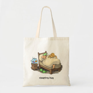sleeping-bag tote bag