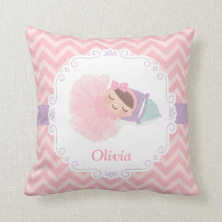 Sleeping Ballerina Baby Girl Room Decor Pillow
