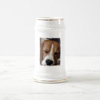 Sleeping Beagle Beer Stein