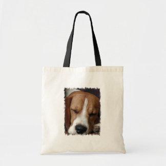 Sleeping Beagle Environmental Tote Budget Tote Bag