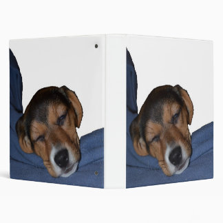 Sleeping Beagle Puppy Binder
