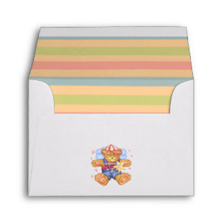 SLEEPING BEAR BABY A2 Note Card Envelope