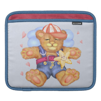 SLEEPING BEAR BABY CARTOON iPad Horizontal Sleeve For iPads