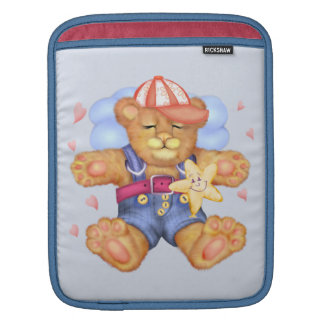 SLEEPING BEAR BABY CARTOON iPad Vertical Sleeve For iPads