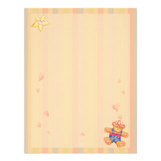 SLEEPING BEAR BABY CARTOON  Letterhead Felt