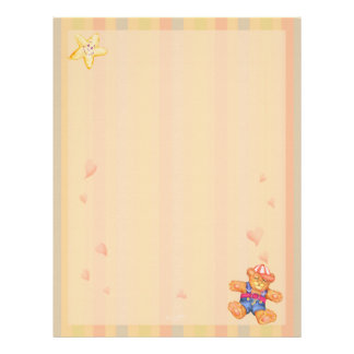SLEEPING BEAR BABY CARTOON  Letterhead Linen