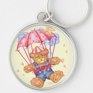 SLEEPING BEAR BABY Premium Round Keychain LARGE