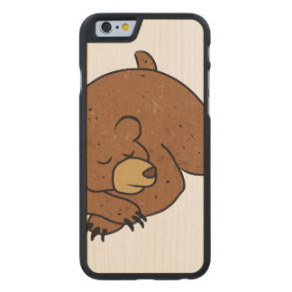 sleeping bear cartoon carved® maple iPhone 6 case