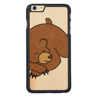 sleeping bear cartoon carved® maple iPhone 6 plus case