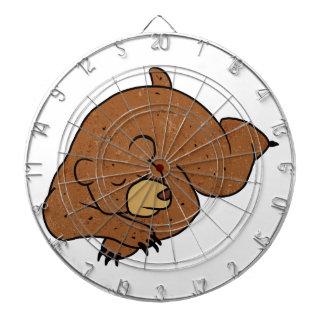 sleeping bear cartoon dartboard