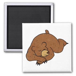 sleeping bear cartoon magnet