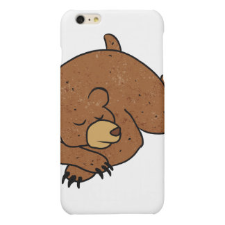 sleeping bear cartoon matte iPhone 6 plus case