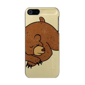 sleeping bear cartoon metallic iPhone SE/5/5s case