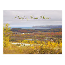 """SLEEPING BEAR DUNES"" (MICHIGAN) POSTCARD"