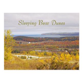 """SLEEPING BEAR DUNES"" (MICHIGAN) POSTCARD"