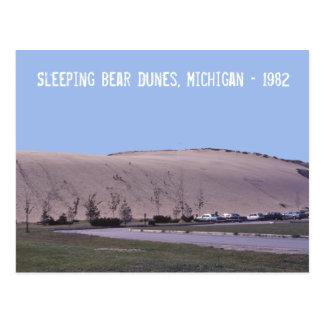 Sleeping Bear Dunes Michigan Sand Dunes Postcard