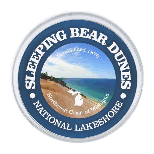 Sleeping Bear Dunes Silver Finish Lapel Pin
