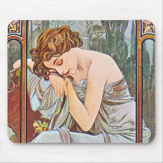 Sleeping Beautiful Woman Mouse Pads