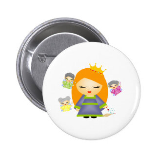 Sleeping Beauty 2 Inch Round Button