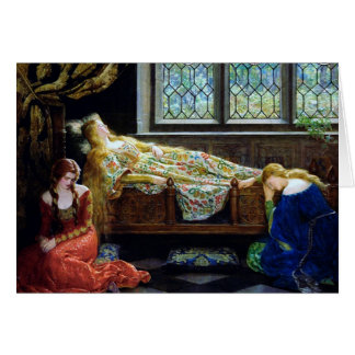 Sleeping Beauty and the Maidens Card