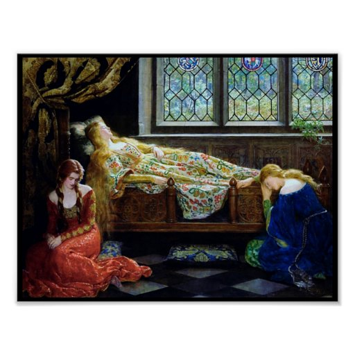 Sleeping Beauty and the Maidens Posters