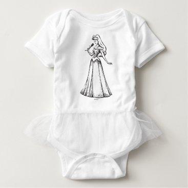 Disney Themed Sleeping Beauty | Aurora - Vintage Rose Baby Bodysuit