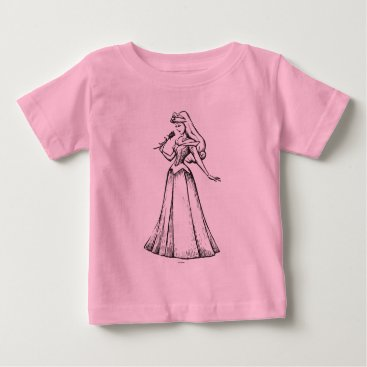 Disney Themed Sleeping Beauty | Aurora - Vintage Rose Baby T-Shirt