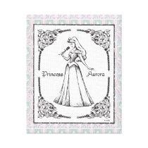 Sleeping Beauty | Aurora - Vintage Rose Canvas Print