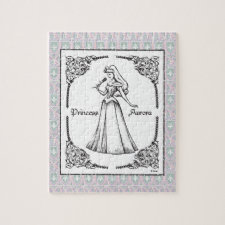 Sleeping Beauty | Aurora - Vintage Rose Jigsaw Puzzle
