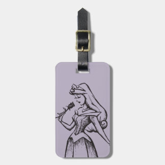 Sleeping Beauty | Aurora - Vintage Rose Luggage Tag