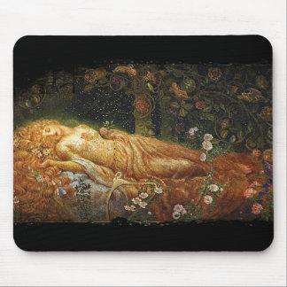 Sleeping Beauty Beside a Harp Mousepad