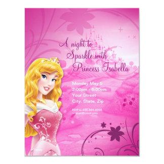 """Sleeping Beauty Birthday Invitation 4.25"""" X 5.5"""" Invitation Card"""