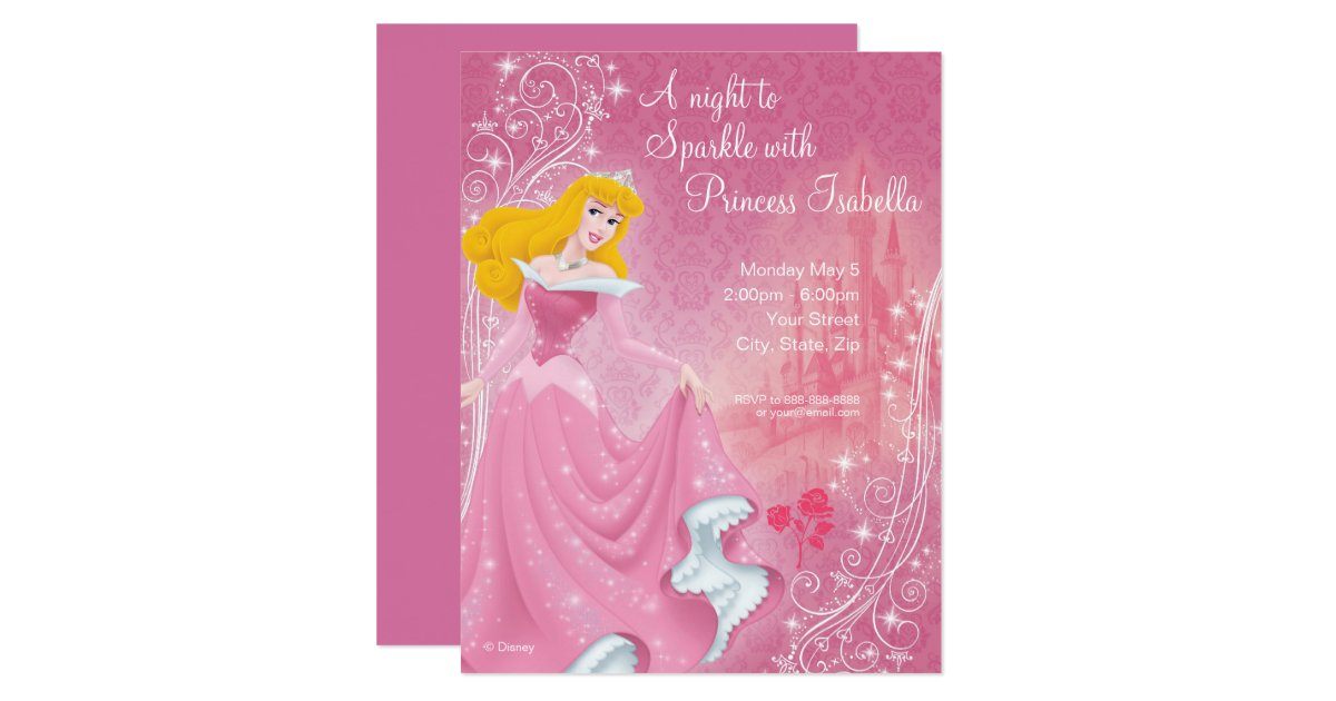 Disney Princess Invitations Announcements – Princess Jasmine Birthday Card