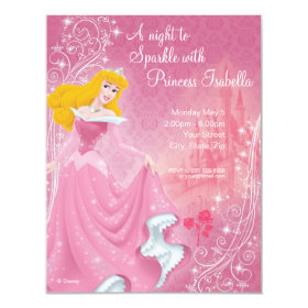 Sleeping Beauty Birthday Invitation 4.25